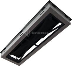 Решетка для камина Kratki Wind 17х49 черная. Фото 8