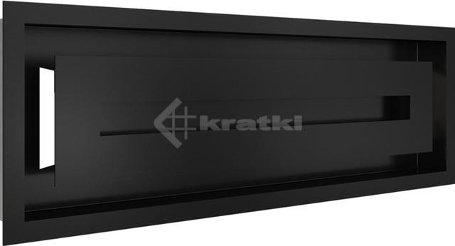 Решетка для камина Kratki Wind 17х49 черная