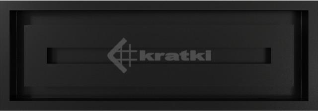 Решетка для камина Kratki Wind 17х49 черная. Фото 2