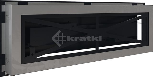Решетка для камина Kratki Wind 17х49 черная. Фото 4