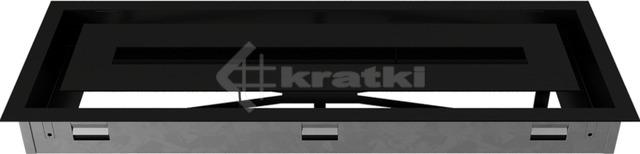 Решетка для камина Kratki Wind 17х49 черная. Фото 6