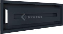 Решетка для камина Kratki Wind 17х49 графитовая