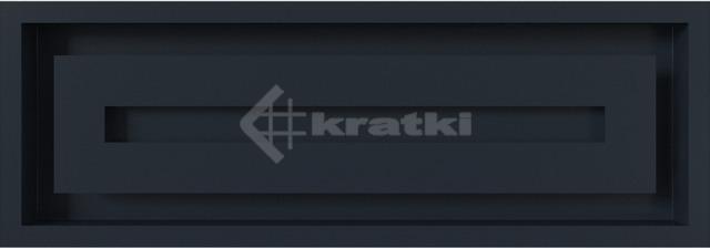 Решетка для камина Kratki Wind 17х49 графитовая. Фото 2