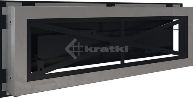 Решетка для камина Kratki Wind 17х49 графитовая. Фото 4