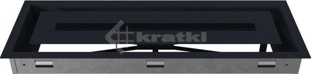 Решетка для камина Kratki Wind 17х49 графитовая. Фото 6