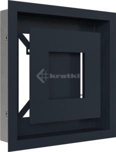 Решетка для камина Kratki Wind 22х22 графитовая