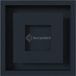 Решетка для камина Kratki Wind 22х22 графитовая. Фото 2