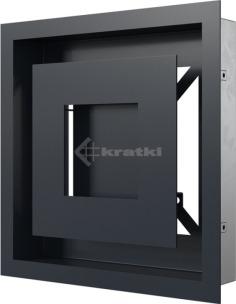 Решетка для камина Kratki Wind 22х22 графитовая. Фото 3