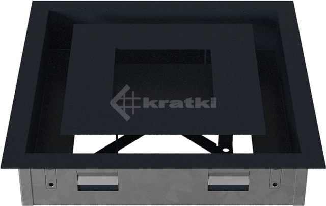 Решетка для камина Kratki Wind 22х22 графитовая. Фото 6