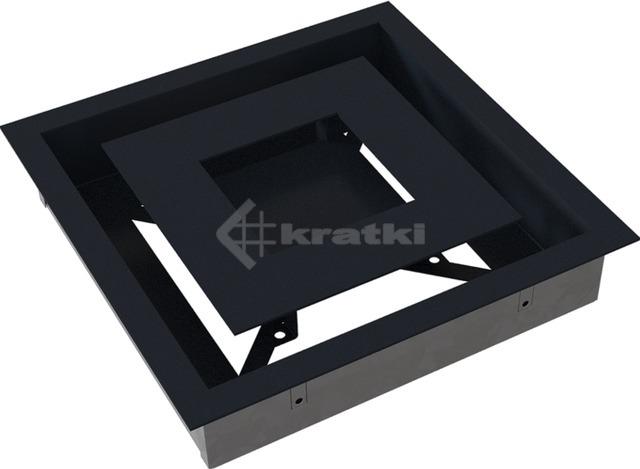 Решетка для камина Kratki Wind 22х22 графитовая. Фото 7