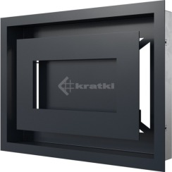 Решетка для камина Kratki Wind 22х30 графитовая. Фото 3