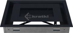 Решетка для камина Kratki Wind 22х30 графитовая. Фото 5