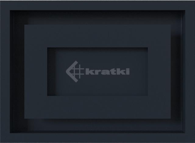 Решетка для камина Kratki Wind 22х30 графитовая. Фото 2
