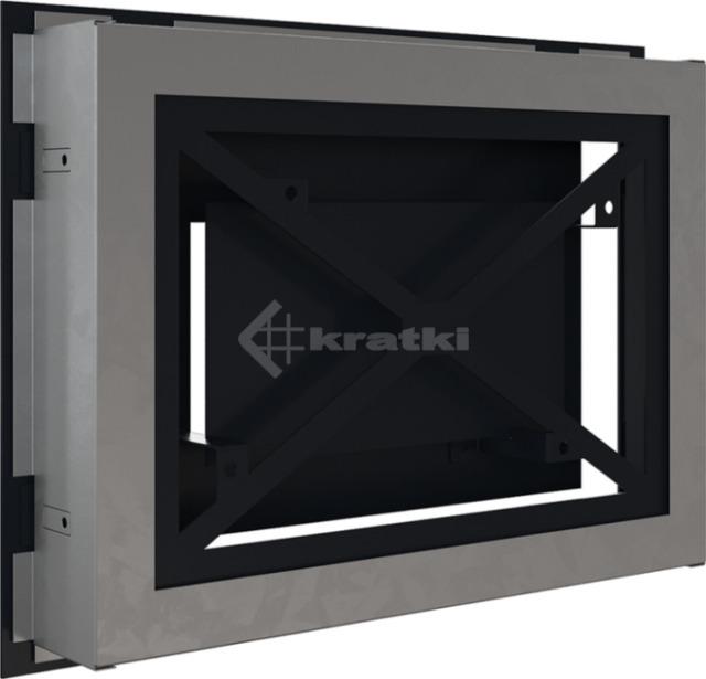 Решетка для камина Kratki Wind 22х30 графитовая. Фото 4