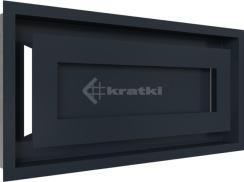 Решетка для камина Kratki Wind 22х45 графитовая