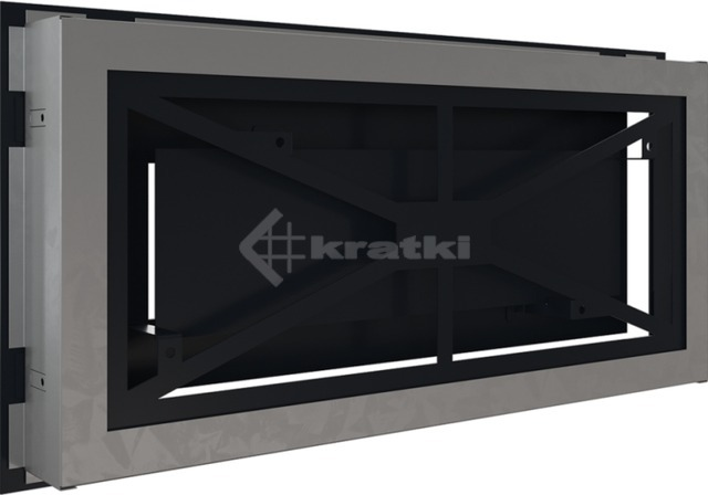 Решетка для камина Kratki Wind 22х45 графитовая. Фото 4
