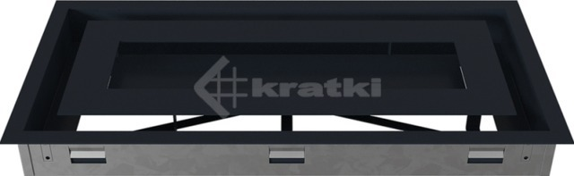 Решетка для камина Kratki Wind 22х45 графитовая. Фото 5